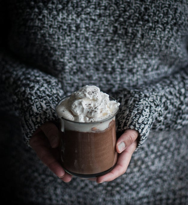 London Fog Hot Chocolate and Maple Whipped Cream