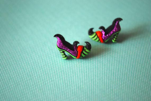 Witch Shoe Earrings