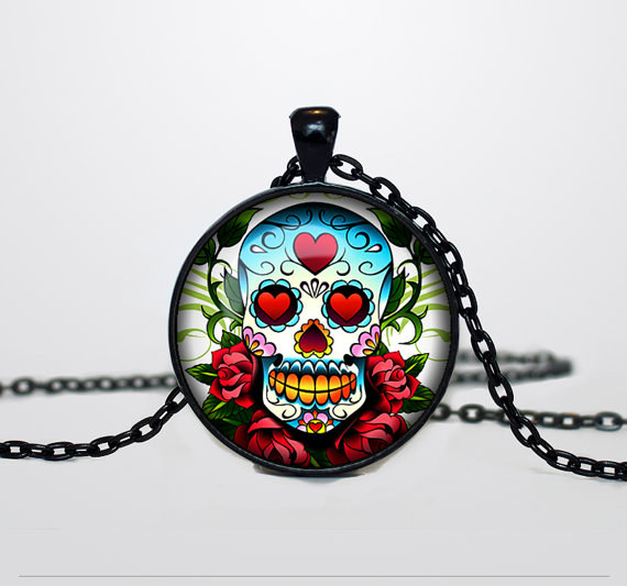 Rainbow Skull Necklace
