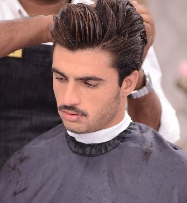 The show proceeded to give him a makeover courtesy of the team at Nabila and N-Gents...