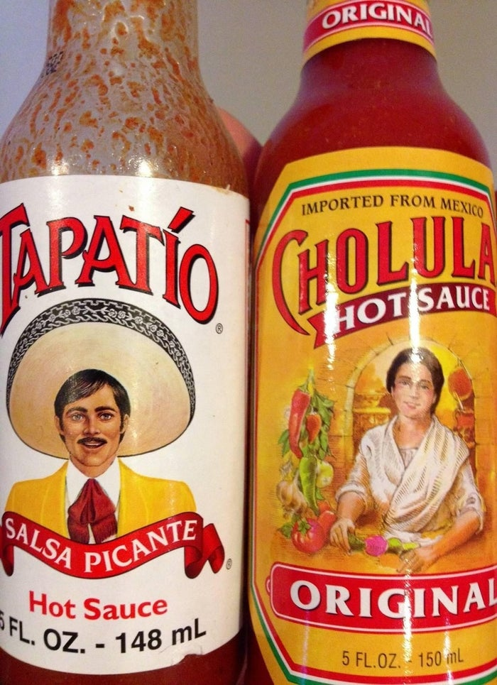And both hot sauces have human mascots.