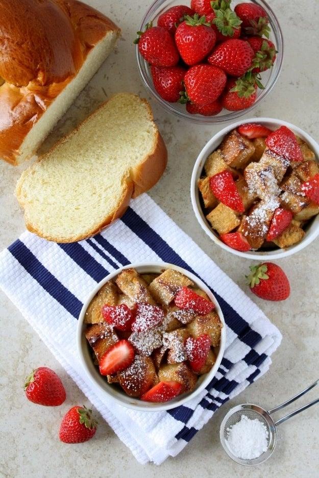Strawberry Shortcake Bread Pudding