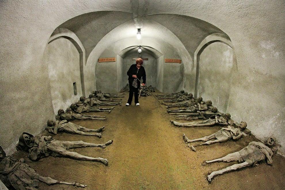 The Capuchin Crypt in Brno, Czech Republic