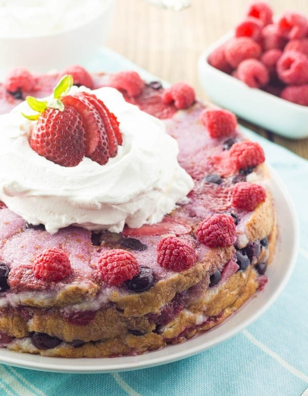 Heavenly Berry Bread Pudding