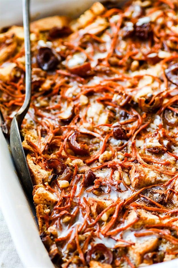Easy Gluten-Free Carrot Cake Bread Pudding