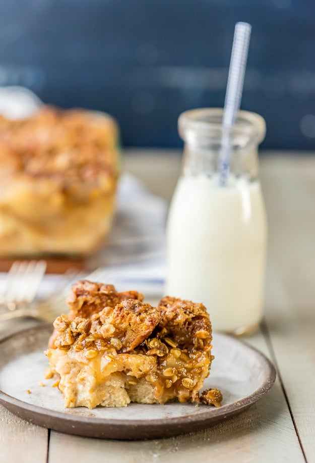 Caramel Apple Pie Bread Pudding