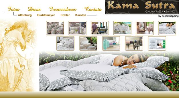 Só o Brasil é ousado suficiente para ter uma loja especializada em cama, mesa e banho com o nome Kama Sutra.