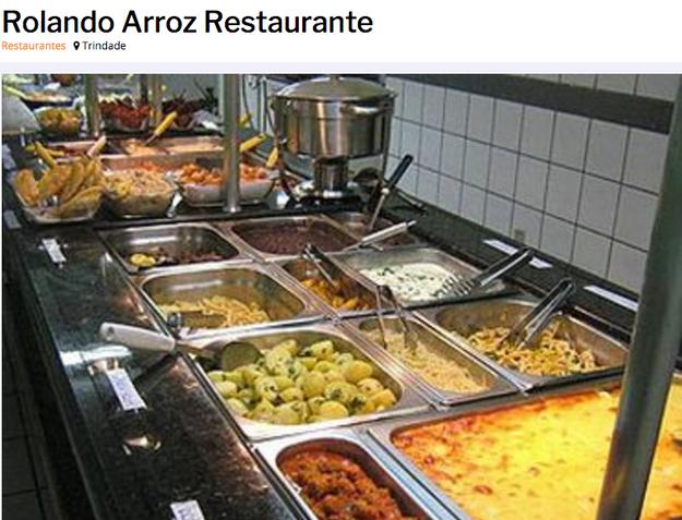 E o restaurante de Florianópolis, terra do tenista Guga, campeão em Roland-Garros, chamado Rolando Arroz.