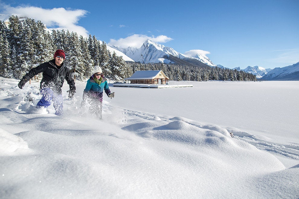 Explore Maligne Lake and try winter camping.