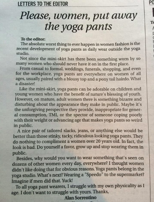 A Man Told Women Not To Wear Yoga Pants, So They Paraded Outside His House
