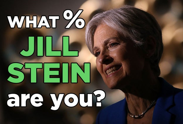 What % Jill Stein Are You?