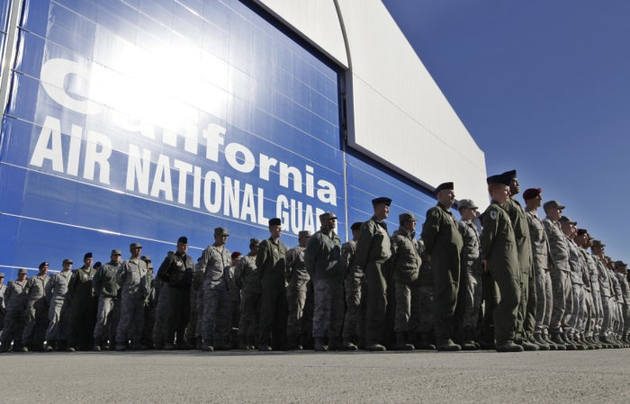 California Army National Guard soldiers in 2011.