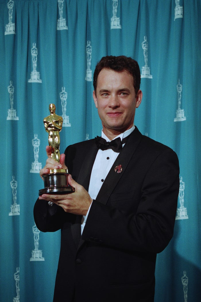 Tom Hanks at the 1994 Academy Awards.
