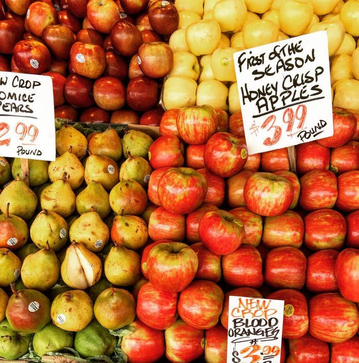 I mean, $3.99 per pound is STEEP, especially since the apples are huge and weigh more than half a pound each.