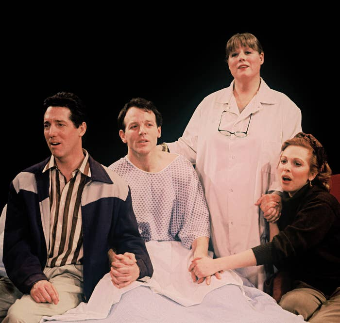 """The 1992 cast of Falsettos perform """"Unlikely Lovers."""""""