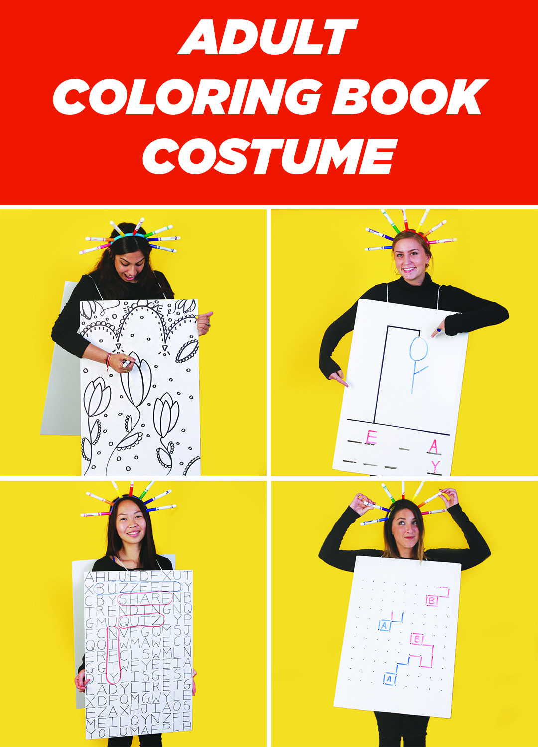 This Easy DIY Coloring Book Costume Is Perfect For