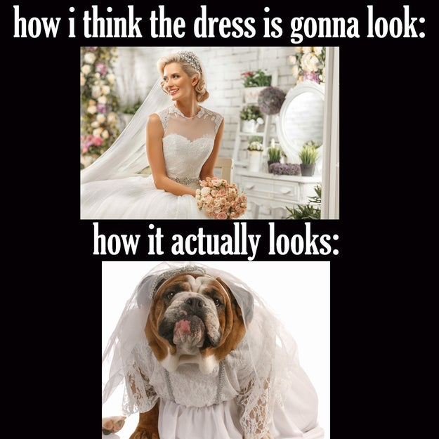 There's a good chance that the dress you *think* you'll look best in is actually your least favorite.