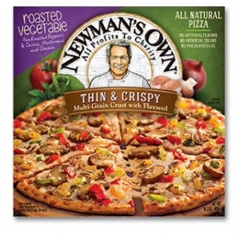 Newman's Own Roasted Vegetable Thin & Crispy Pizza
