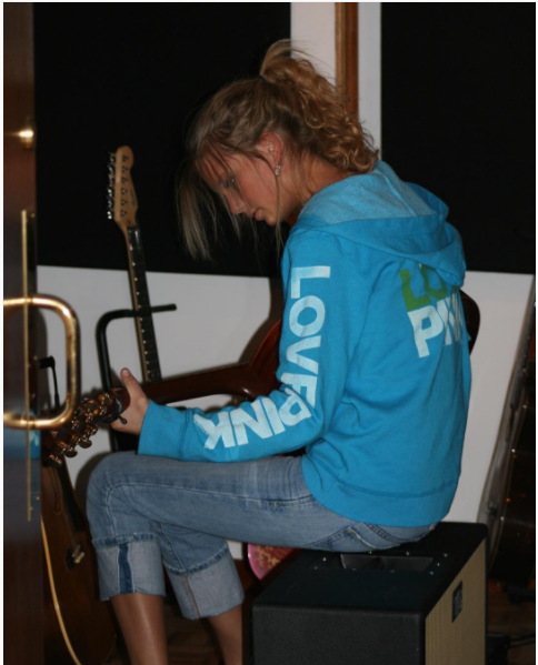 And finally, in honor of the 10th anniversary of her self-titled debut album, Taylor Swift shared this photo of herself working on it back in 2006.