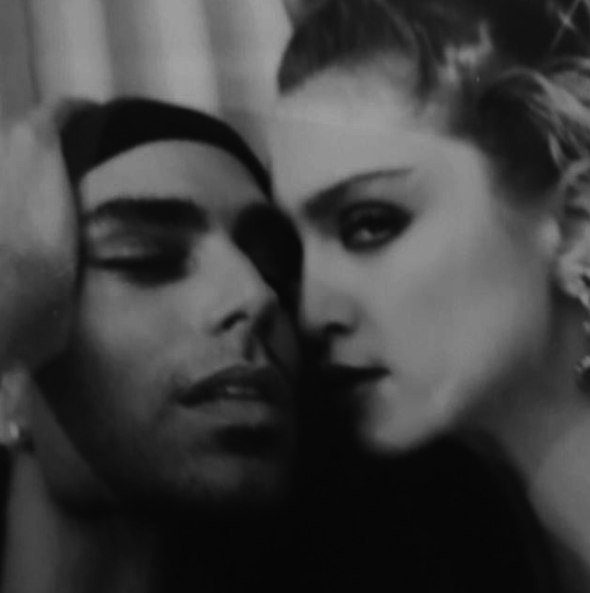 Madonna posted this photo of herself with her close friend, photographer Steven Meisel, in the early '80s.