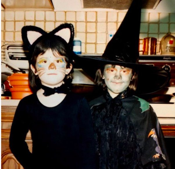 Tegan and Sara shared this adorable photo of the two them getting ready to trick-or-treat.