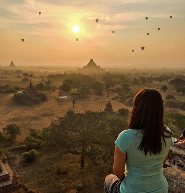 """On top of a Pagoda at sunrise in Bagan, Myanmar.""—kobem"