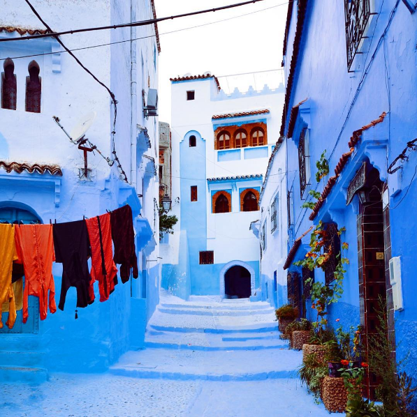 """Chefchaouen, Morocco, otherwise known as 'Blue City.'""—autumnjc"