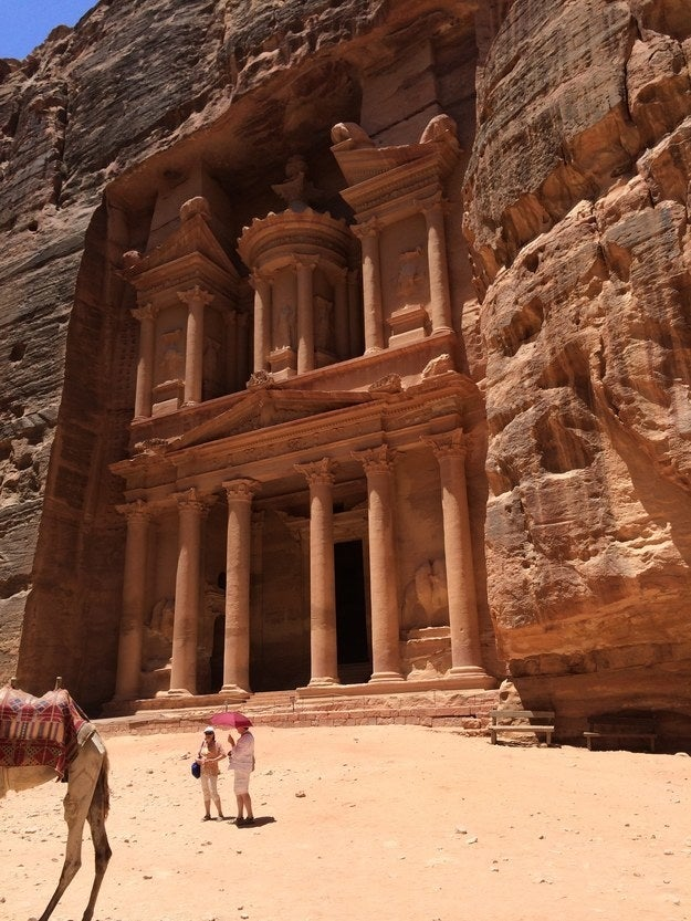 """Petra in Jordan is ridiculous. I was there for six weeks on an archaeological dig and was astonished every day by how beautiful it was. These temples were carved into cliff faces over 2,000 years ago!""—katiek434edd01c"