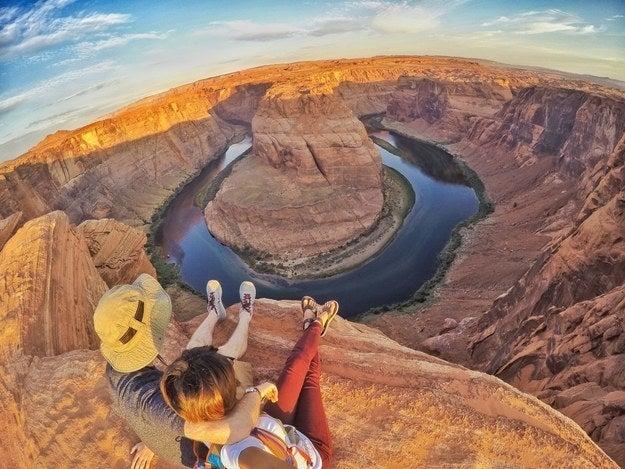 """""""Horseshoe Bend, Arizona. It's always picturesque.""""—hadhinahfawwazahn"""