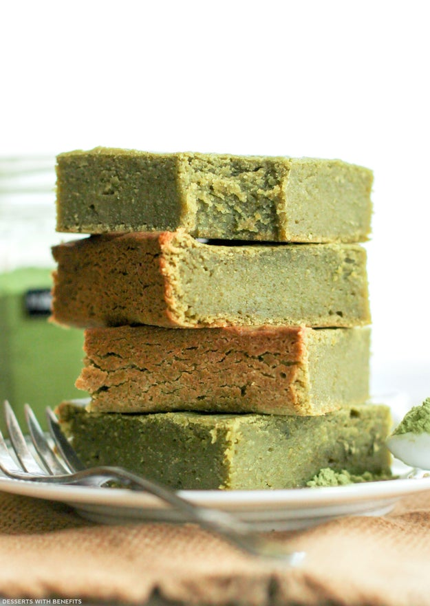 Healthy Matcha Green Tea Blondies