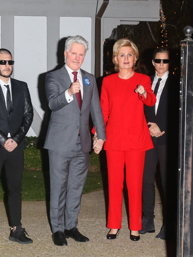 Of course, doing just Hillary wasn't enough, so Perry had her beau Orlando Bloom dress up as Bill Clinton. Yes, that is Orlando Bloom under all that makeup.