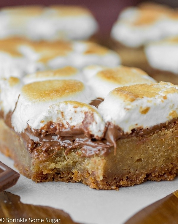 Toasted S'mores Blondies