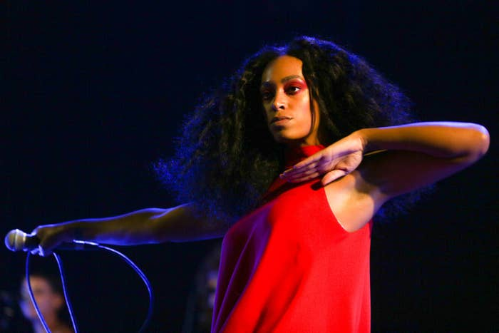 Solange performs during FYF Fest at LA Sports Arena & Exposition Park.