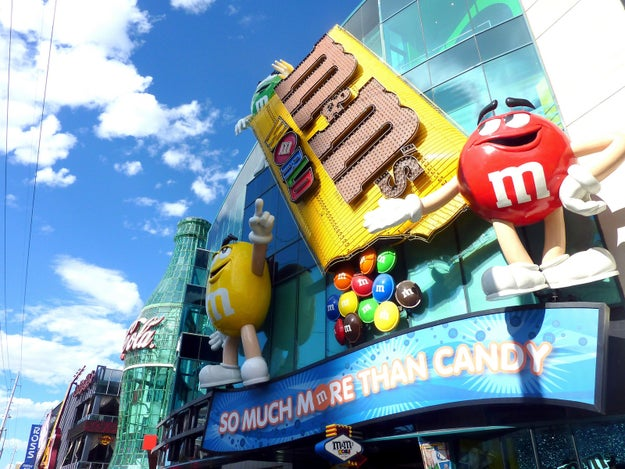 Places like M&M World, which dedicates tens of thousands of square feet to all things M&M.