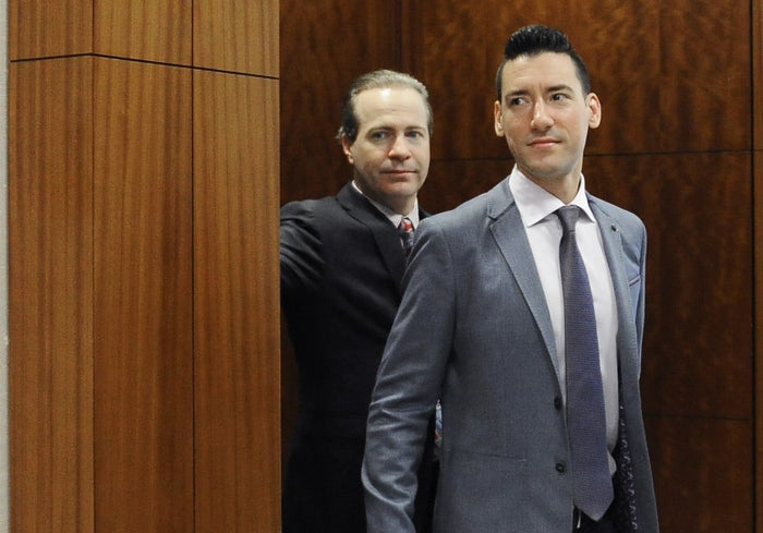 David Daleiden, who recorded the videos, leaves a courtroom after a hearing in Houston in April.