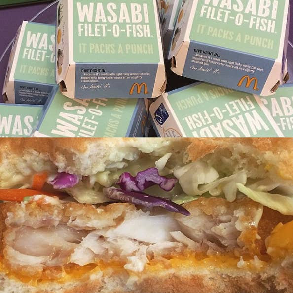 A special edition of the Filet-o-Fish limited to Asia, this sando is spiked with tangy wasabi.