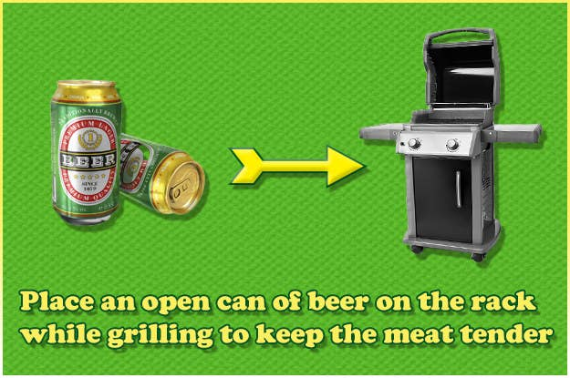 Laziness factor: Open the beer, put it down, eat delicious meat. Easy.Full hack here