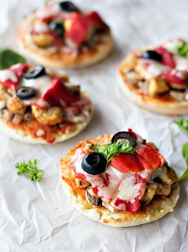 BBQ Chicken English Muffin Pizzas