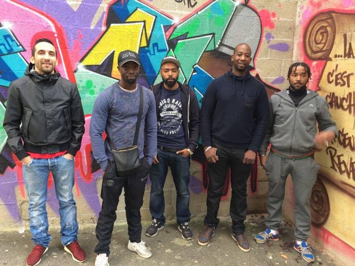 De gauche à droite: Mehdi, Bertrand, Manolito, Ousmane et Vinks
