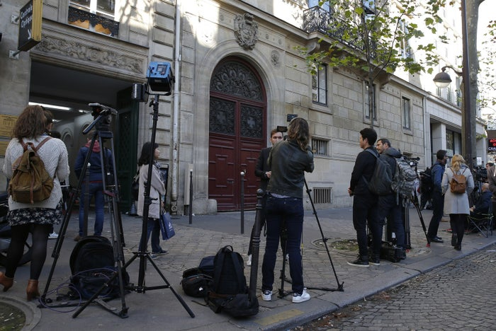 The residence on the Rue Tronchet in central Paris where Kim Kardashian was robbed gunpoint.