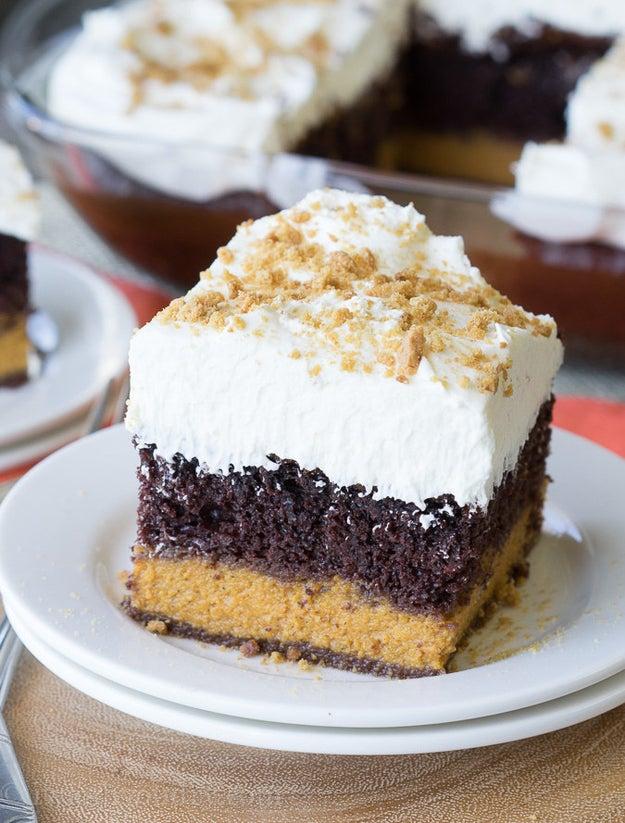 Chocolate Pumpkin Magic Cake