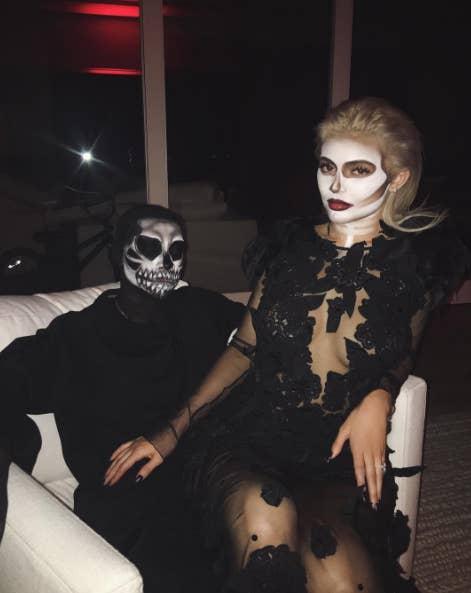 and im guessing thats tyga back - Christina Aguilera Halloween