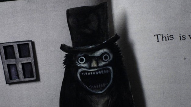 The Babadook, just refresh your memory, is the horrifying monster from the movie with the same name released in 2014. He wears a big top hat and looks sort of like a ghoul-looking thing.