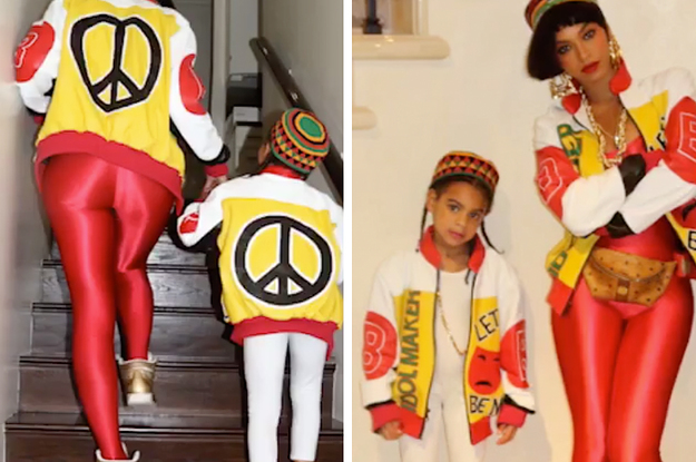 Omg Beyonce And Blue Ivy Dressed Up As Salt N Pepa For Halloween