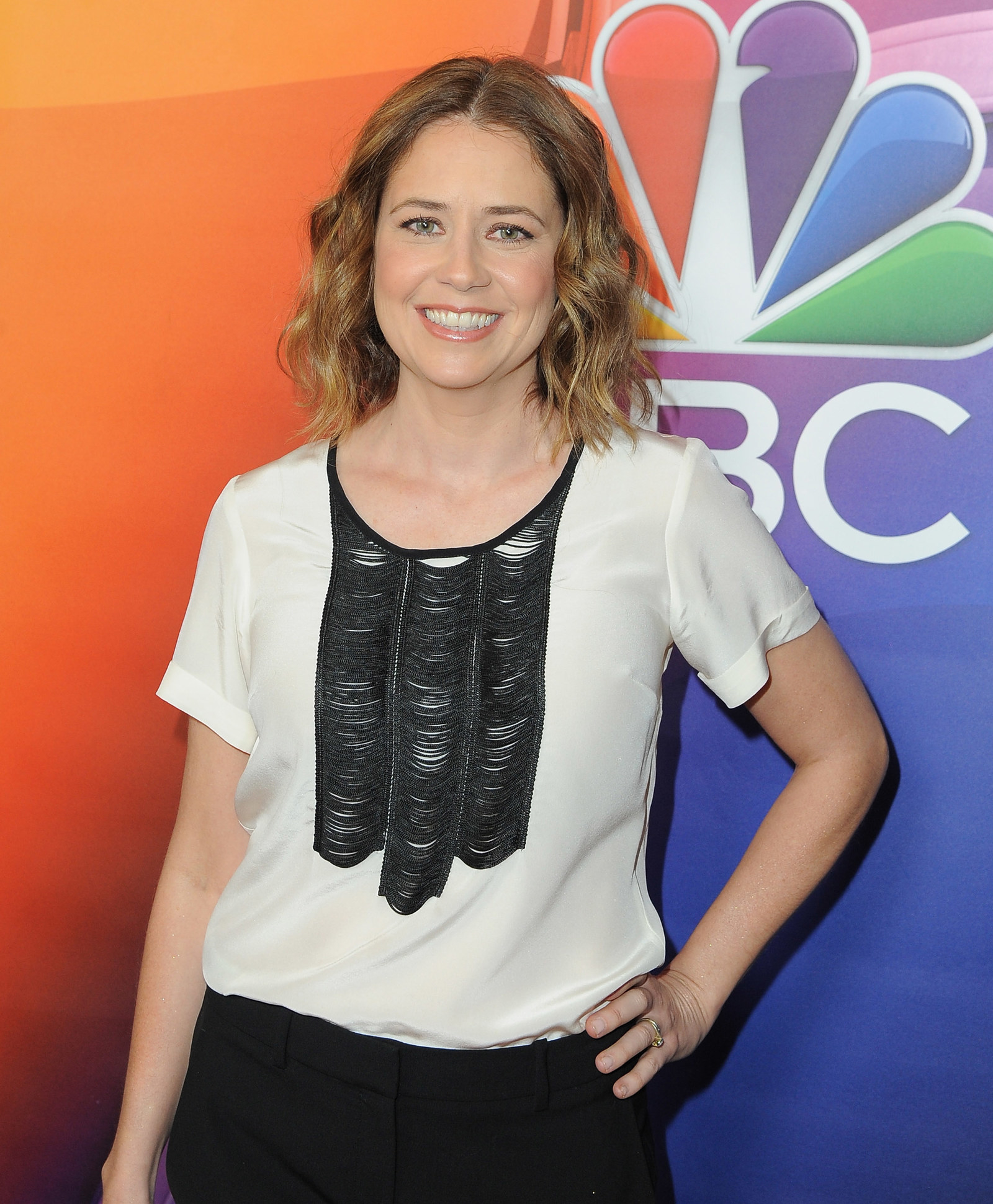 Jenna Fischer Loves This Office Costume Of Mini Dwight Schrute