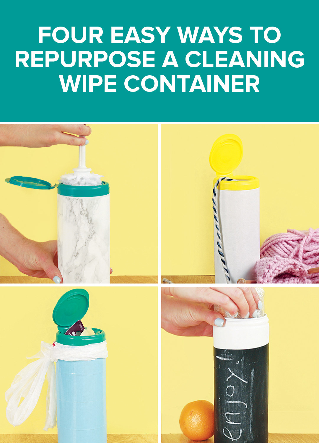 Transform An Old Cleaning Wipe Container Into A Household Hero