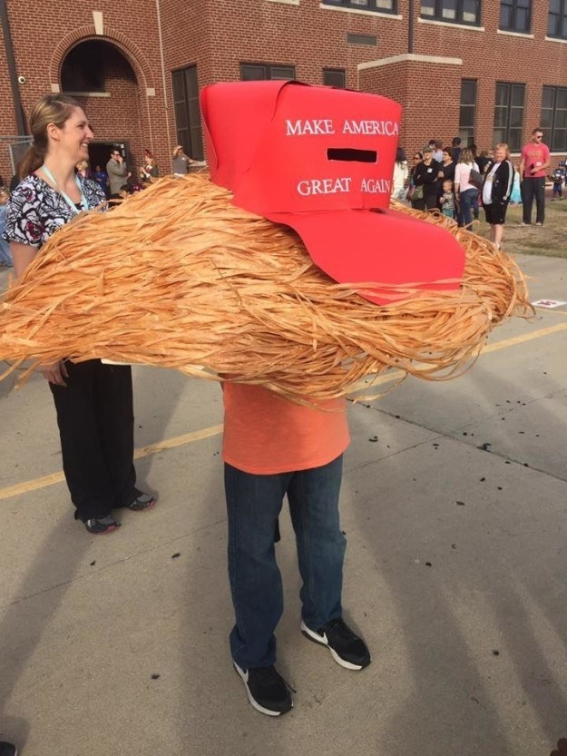 The kid who dressed as Trump's hair.