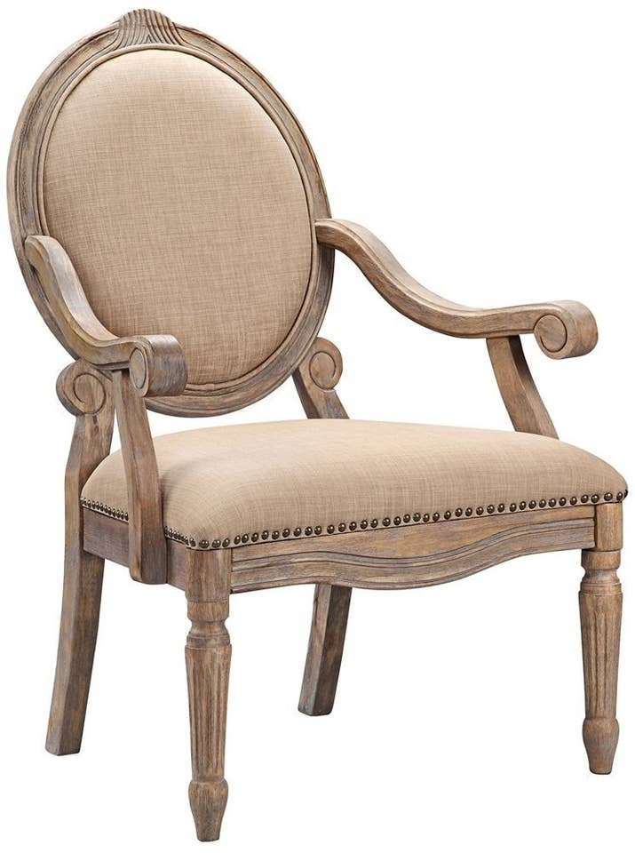 An elegant circle-back dining chair will make every meal feel like you're  sitting on a throne.