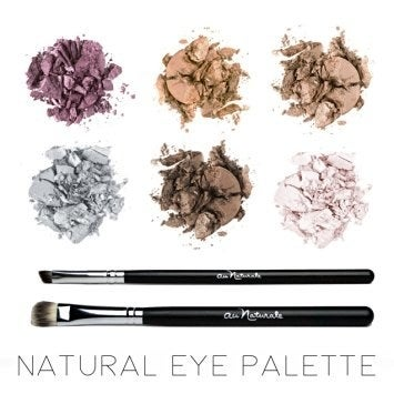 """Promising Review: """"I bought this natural eye palette as my go-to, everyday make up routine. I like the variety of colors/shades, the product application and how long it lasts on my eye. The brushes help me, as a novice, apply the shades in a flattering way. I can layer on shade by shade and easily blend where I need to blend. Overall, this is the best palette I have used for my natural makeup routine!"""" —JessicaPrice: $48.00 Find other Au Naturalle products on Amazon here."""