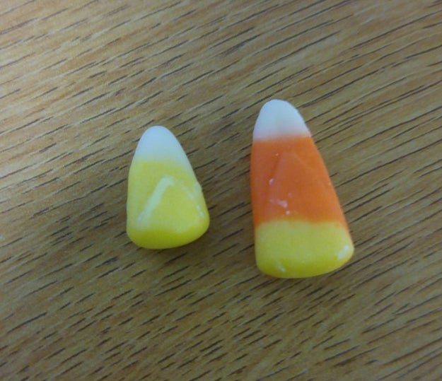 This candy corn that's having an identity crisis.